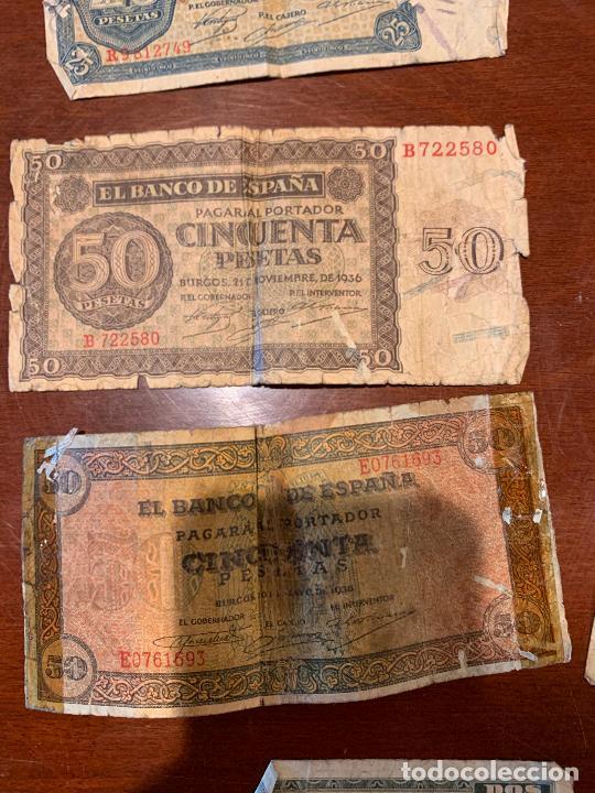 Billetes españoles: Gran lote de billetes antiguos Burgos 500,50,100 pesetas 1938-1936 - Foto 34 - 260077715