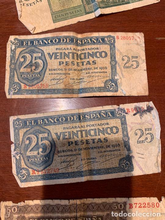 Billetes españoles: Gran lote de billetes antiguos Burgos 500,50,100 pesetas 1938-1936 - Foto 35 - 260077715