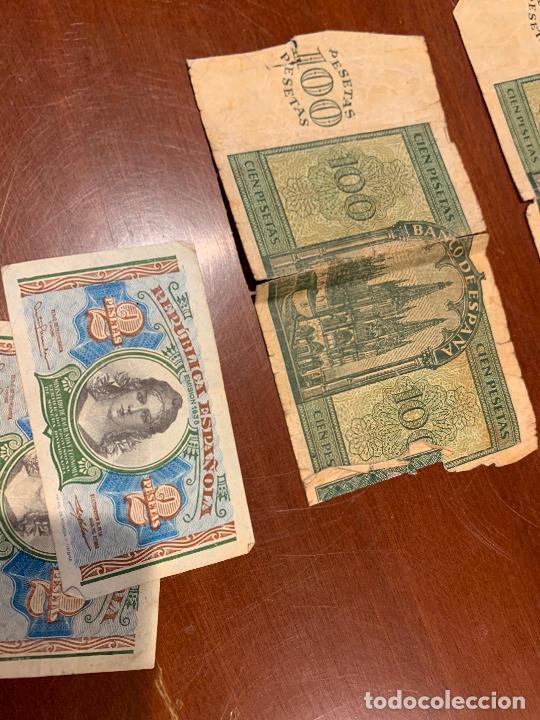 Billetes españoles: Gran lote de billetes antiguos Burgos 500,50,100 pesetas 1938-1936 - Foto 39 - 260077715