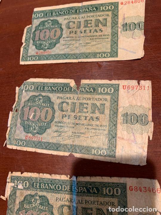 Billetes españoles: Gran lote de billetes antiguos Burgos 500,50,100 pesetas 1938-1936 - Foto 40 - 260077715