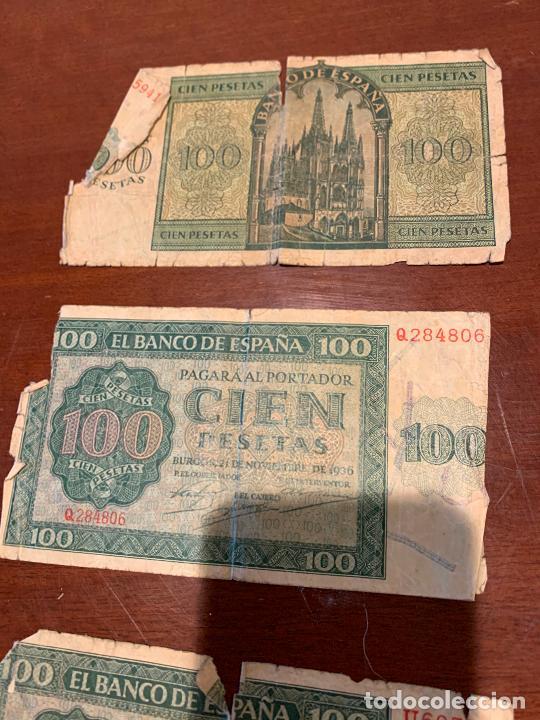 Billetes españoles: Gran lote de billetes antiguos Burgos 500,50,100 pesetas 1938-1936 - Foto 41 - 260077715
