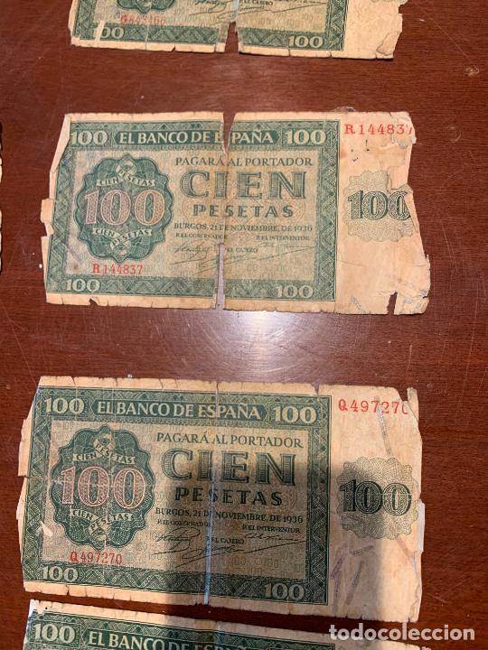 Billetes españoles: Gran lote de billetes antiguos Burgos 500,50,100 pesetas 1938-1936 - Foto 42 - 260077715