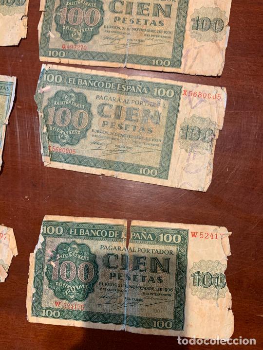Billetes españoles: Gran lote de billetes antiguos Burgos 500,50,100 pesetas 1938-1936 - Foto 43 - 260077715