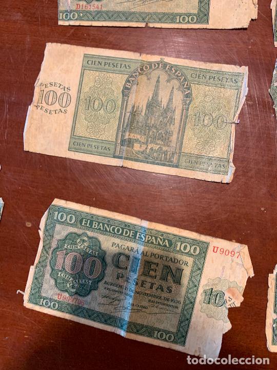 Billetes españoles: Gran lote de billetes antiguos Burgos 500,50,100 pesetas 1938-1936 - Foto 44 - 260077715