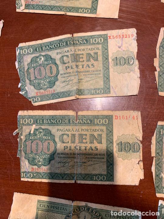 Billetes españoles: Gran lote de billetes antiguos Burgos 500,50,100 pesetas 1938-1936 - Foto 45 - 260077715