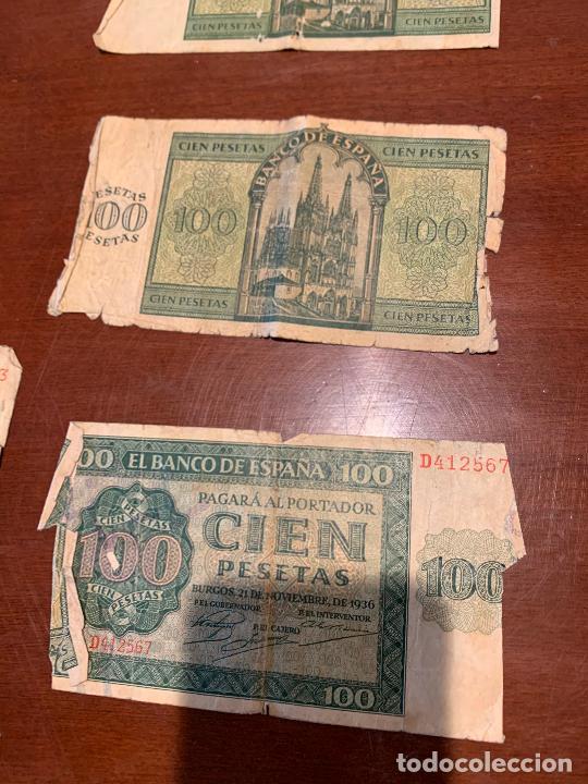 Billetes españoles: Gran lote de billetes antiguos Burgos 500,50,100 pesetas 1938-1936 - Foto 46 - 260077715