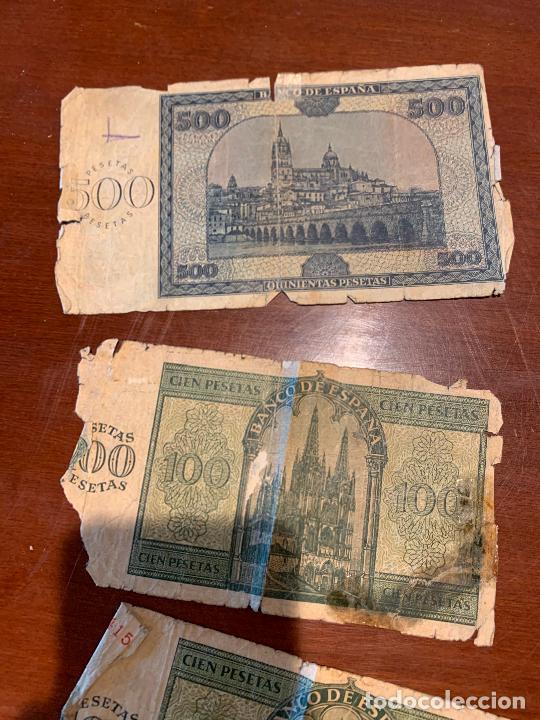 Billetes españoles: Gran lote de billetes antiguos Burgos 500,50,100 pesetas 1938-1936 - Foto 52 - 260077715