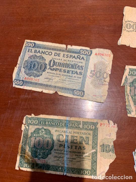 Billetes españoles: Gran lote de billetes antiguos Burgos 500,50,100 pesetas 1938-1936 - Foto 53 - 260077715