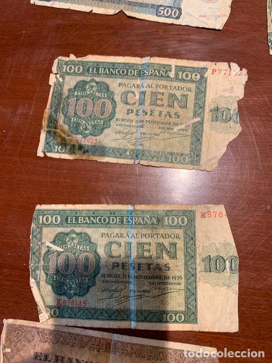 Billetes españoles: Gran lote de billetes antiguos Burgos 500,50,100 pesetas 1938-1936 - Foto 54 - 260077715
