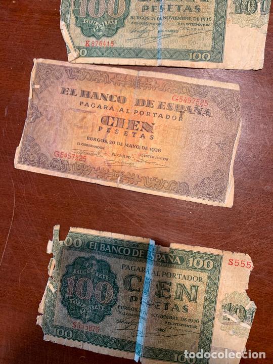 Billetes españoles: Gran lote de billetes antiguos Burgos 500,50,100 pesetas 1938-1936 - Foto 55 - 260077715