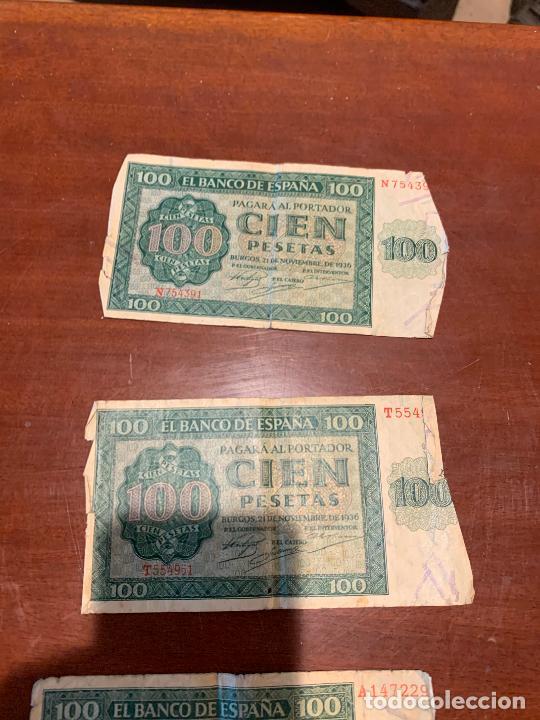 Billetes españoles: Gran lote de billetes antiguos Burgos 500,50,100 pesetas 1938-1936 - Foto 56 - 260077715