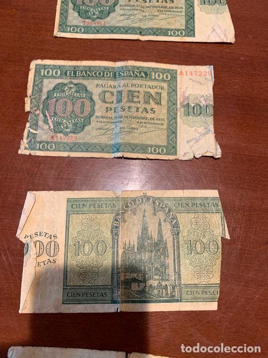 Billetes españoles: Gran lote de billetes antiguos Burgos 500,50,100 pesetas 1938-1936 - Foto 57 - 260077715