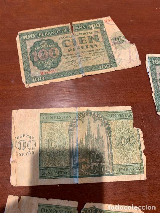 Billetes españoles: Gran lote de billetes antiguos Burgos 500,50,100 pesetas 1938-1936 - Foto 59 - 260077715