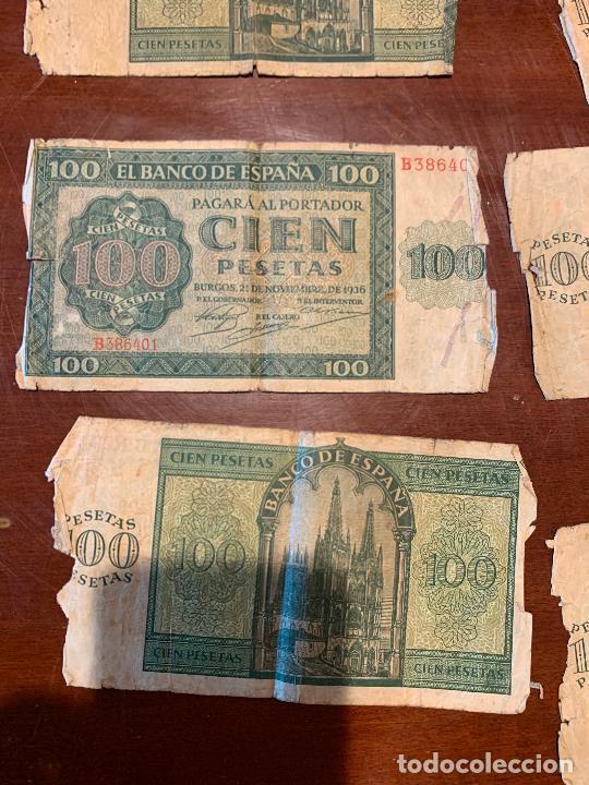 Billetes españoles: Gran lote de billetes antiguos Burgos 500,50,100 pesetas 1938-1936 - Foto 61 - 260077715