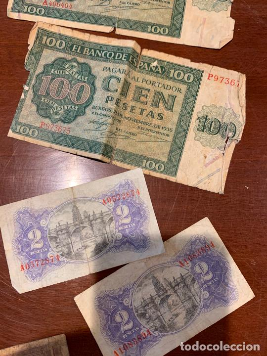 Billetes españoles: Gran lote de billetes antiguos Burgos 500,50,100 pesetas 1938-1936 - Foto 67 - 260077715