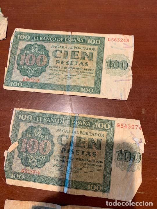 Billetes españoles: Gran lote de billetes antiguos Burgos 500,50,100 pesetas 1938-1936 - Foto 68 - 260077715