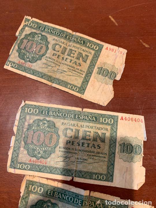 Billetes españoles: Gran lote de billetes antiguos Burgos 500,50,100 pesetas 1938-1936 - Foto 69 - 260077715