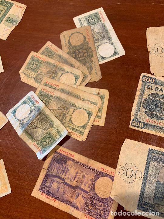 Billetes españoles: Gran lote de billetes antiguos Burgos 500,50,100 pesetas 1938-1936 - Foto 70 - 260077715