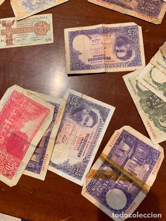 Billetes españoles: Gran lote de billetes antiguos Burgos 500,50,100 pesetas 1938-1936 - Foto 71 - 260077715