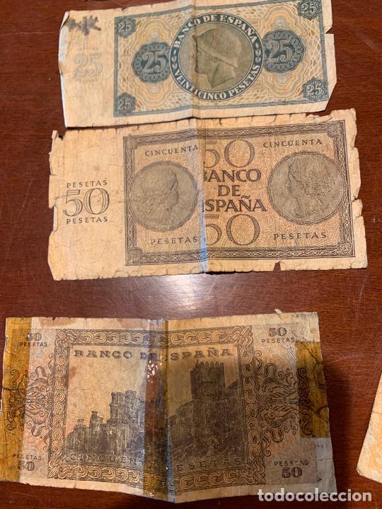 Billetes españoles: Gran lote de billetes antiguos Burgos 500,50,100 pesetas 1938-1936 - Foto 72 - 260077715