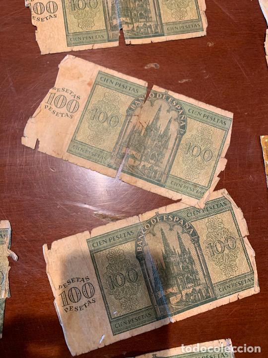 Billetes españoles: Gran lote de billetes antiguos Burgos 500,50,100 pesetas 1938-1936 - Foto 73 - 260077715