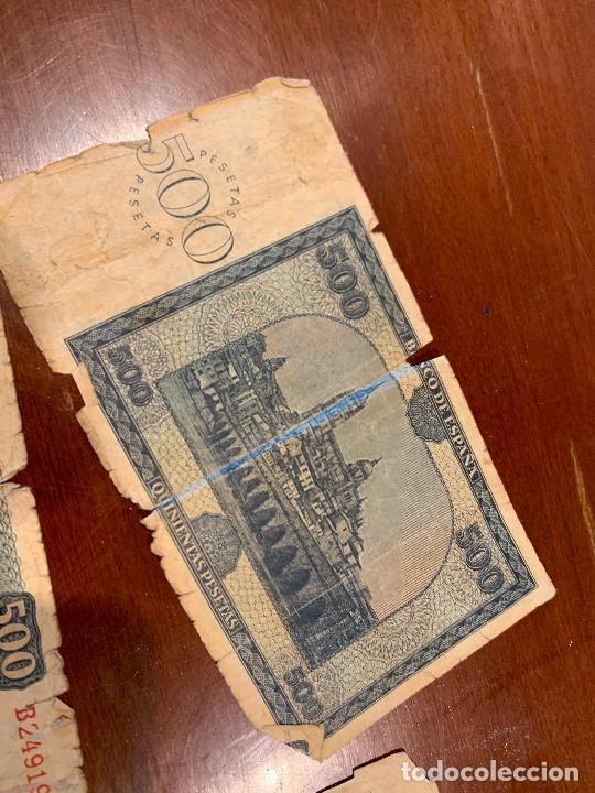 Billetes españoles: Gran lote de billetes antiguos Burgos 500,50,100 pesetas 1938-1936 - Foto 74 - 260077715