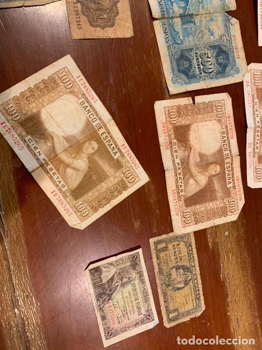 Billetes españoles: Gran lote de billetes antiguos Burgos 500,50,100 pesetas 1938-1936 - Foto 75 - 260077715