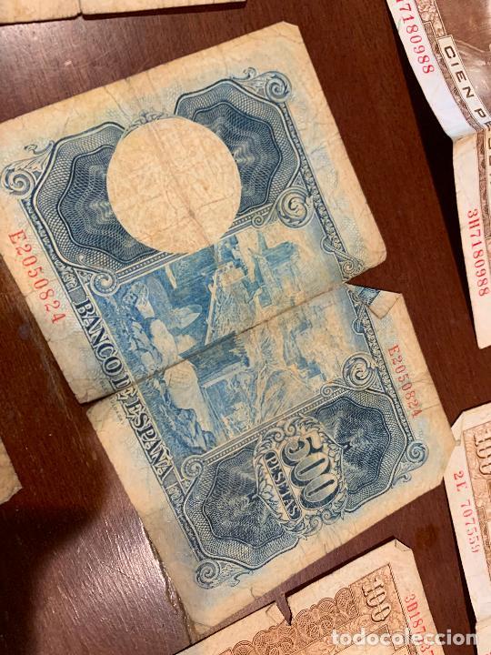 Billetes españoles: Gran lote de billetes antiguos Burgos 500,50,100 pesetas 1938-1936 - Foto 76 - 260077715