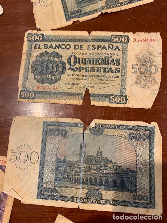Billetes españoles: Gran lote de billetes antiguos Burgos 500,50,100 pesetas 1938-1936 - Foto 80 - 260077715