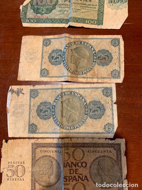 Billetes españoles: Gran lote de billetes antiguos Burgos 500,50,100 pesetas 1938-1936 - Foto 81 - 260077715