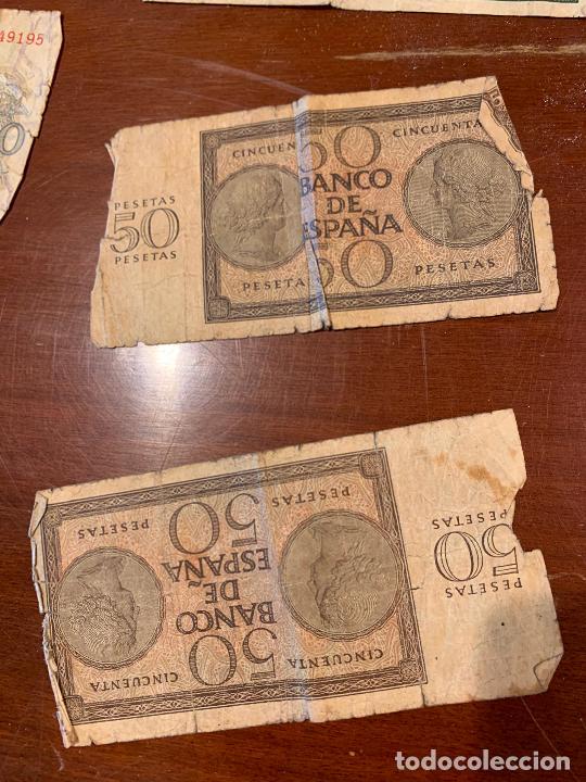 Billetes españoles: Gran lote de billetes antiguos Burgos 500,50,100 pesetas 1938-1936 - Foto 84 - 260077715