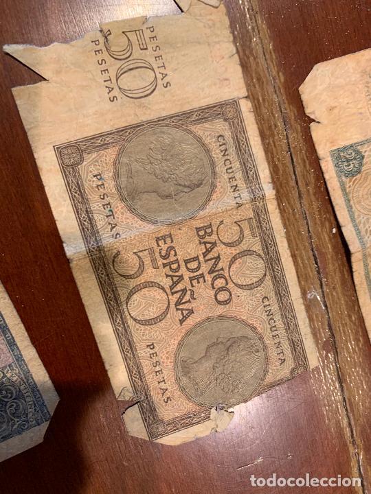 Billetes españoles: Gran lote de billetes antiguos Burgos 500,50,100 pesetas 1938-1936 - Foto 92 - 260077715