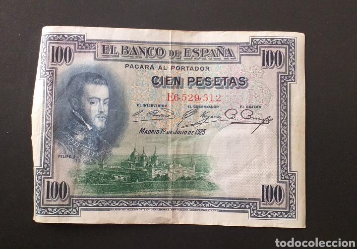 BILLETE DE 100 PESETAS ESPAÑA AÑO 1925 FELIPE II (Numismática - Notafilia - Billetes Españoles)