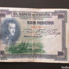 Banconote spagnole: BILLETE DE 100 PESETAS ESPAÑA AÑO 1925 FELIPE II. Lote 260353425