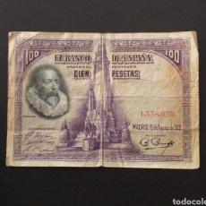 Banconote spagnole: BILLETE DE 100 PESETAS ESPAÑA 1928. Lote 260356085