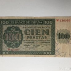 Billetes españoles: BILLETE ESPAÑA 100 PESETAS 1936 , BURGOS. Lote 261256050