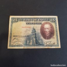 Billetes españoles: BILLETE DE 25 PESETAS AÑO 1928. Lote 261559375