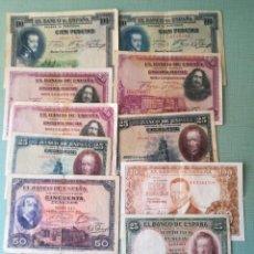 Billetes españoles: VARIOS BILLETES. Lote 261751650