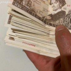 Billetes españoles: GRAN LOTE DE BILLETES ANTIGUOS MUCHOS CORRELATIVOS 100 PESETAS 1950-1960 MUY BUEN ESTADO. Lote 261859155