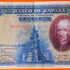 Billetes españoles: ESPAÑA, 25 PESETAS, 1928. MBC. (84). Lote 262117935
