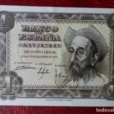 Notas espanholas: EBC - SERIE E - BILLETE DE 1 PESETA DE 1951 - DON QUIJOTE. Lote 262250145
