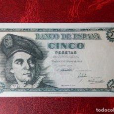 Notas espanholas: SC- - SERIE A - BILLETE DE 5 PESETAS DE 1948 - ELCANO. Lote 262285250