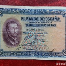 Notas espanholas: MBC- - SERIE A - BILLETE DE 25 PESETAS DE 1926 - SAN FRANCISCO JAVIER. Lote 262288965