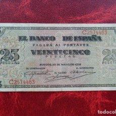 Notas espanholas: BC+ - SERIE C - BILLETE DE 25 PESETAS DE 1938 - BURGOS. Lote 262290750