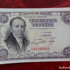 Notas espanholas: EBC - SERIE I - BILLETE DE 25 PESETAS DE 1946 - FLOREZ ESTRADA. Lote 262291230