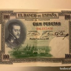 Notas espanholas: BILLETE 100 PESETAS AÑO 1925. Lote 262311520
