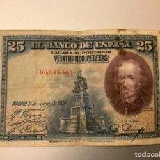 Notas espanholas: BILLETE 25 PESETAS AÑO 1928. Lote 262311925