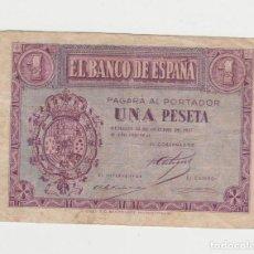 Billetes españoles: 1 PESETA- 12 DE OCTUBRE DE 1937. Lote 262315440