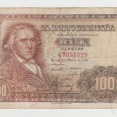 Billetes españoles: 100 PESETAS- 2 DE MAYO DE 1948- SERIE G. Lote 262318795