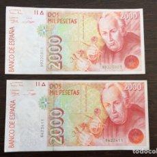 Billetes españoles: LOTE DE DOS BILLETES. Lote 262427810